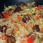 recette Risotto aux légumes et minis boulettes