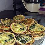 recette Tartelettes épinards chèvres