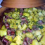 recette Pomme de terre et merguez