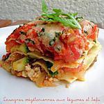 recette Lasagnes Végétariennes aux Légumes & Tofu