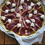 recette TARTE SALEE POIVRONS MAGRET DE CANARD CHEVRE MIEL