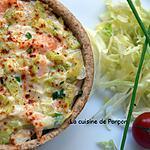 recette Quiche aux poireaux et saumon
