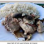 recette Espadon aux champignons