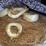 recette Nouilles au calamars sauce saté