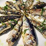 recette Sardines grillées, vinaigrette citron coriandre...