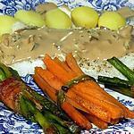recette Merlan accompagné de sa petite sauce et de ses petits légumes