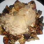 recette Cote de veau à la creme et aux cépes