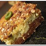 recette ** Divin ce cheesecake ricotta pistache & son pralin croustillant aux flocons d'avoine**