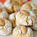recette Amaretti parfumé au yuzu et à la fleur d'oranger