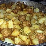 recette Tajine de boulettes au pommes de terre
