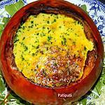 recette Potimarron farci aux oeufs et lardons