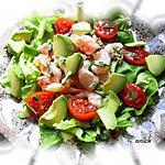 crevettes en salade