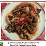 recette Sauté d'anneaux de calamars aux champignons