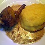 recette Manchons de canard et purée de pomme de terre potiron