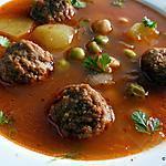recette Çorba/Chorba aux boulettes - Turquie