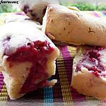 Mini cakes aux framboises & à la rose