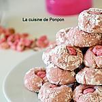 recette Amaretti à l'arôme framboise et praline rose