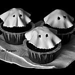 recette cupcake noir et fantôme blanc