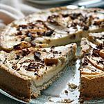 recette Tarte aux pommes et à la crème de pommes, bio {sans gluten, sans lait, sans oeufs}