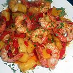 recette Gambas a l ananas