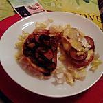 recette tartine aux cépes et andouille  de kilométre  zéro,,  ;,,,;;;;;tartine  andouille  camenbert