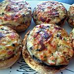 recette Champignons farcis jambon, fromage et parmesan