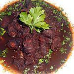 recette Tentacules de calamar géant au vin rouge