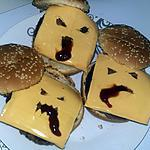 recette Hamburger monstrueux d'Halloween