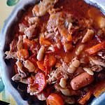 recette poulet  façon  cassoulet    aux  plaisirs gourmands de joyce