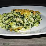 recette Le vert de la scarole pour donner un peu de couleur à ce plat de pâtes et poulet