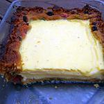 recette CREMEUX AUX AGRUMES SUR CAKE AUX FRUITS CONFITS