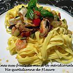 recette Linguines aux fruits de mer à la méridionale