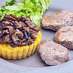 recette Filet mignon de porc aux cèpes et à la polenta