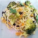 recette Poêlée thaïe de légumes accompagnés de ses nouilles