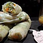 recette Nems chauds ou froids légumes et crevettes