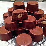 recette Chocolats fourrés praliné et chocolat au lait