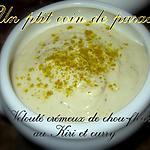 Velouté crémeux de chou-fleur au kiri et curry