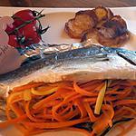 recette Daurade, julienne de légumes aux agrumes et gingembre