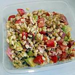 recette Salade de blé, avocat et jambon cru