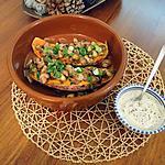 recette Patate douce rôtie aux champignons
