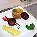 recette Tartare saumon à la mangue en déclinaison