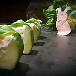 recette Concombre farci à la truite fumée