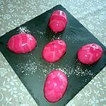 recette Dômes fraise chocolat