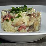 recette Risotto aux poulet-lardons-champignons légèrement crémé