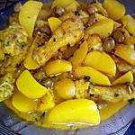 recette Tajine de poulet aux olives et ses pommes de terre