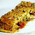 recette calzone feuilleté aux courgettes, tomates et chorizo
