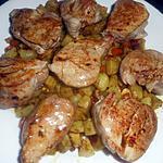 recette Médaillons de filet mignon aux topinambours