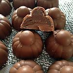 recette Chocolats au lait fourrés pâte à tartiner aux noisettes