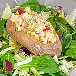 recette Pommes de terre au four aux crevettes