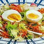 recette Salade d'oeufs, carotte, radis et noix